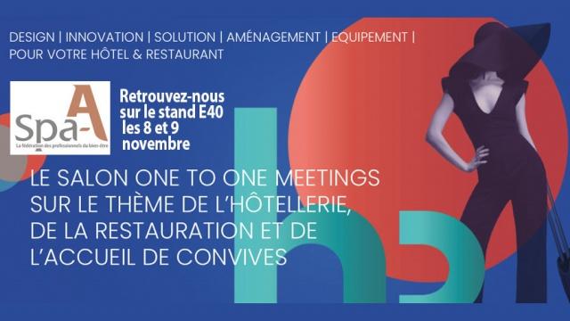 Spa-A sera présent à l'événement Hotel & Restaurant Meetings !